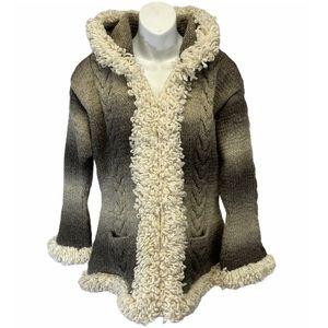 Milma's Crafts 100% ALPACA Wool Sweater Coat LARGE